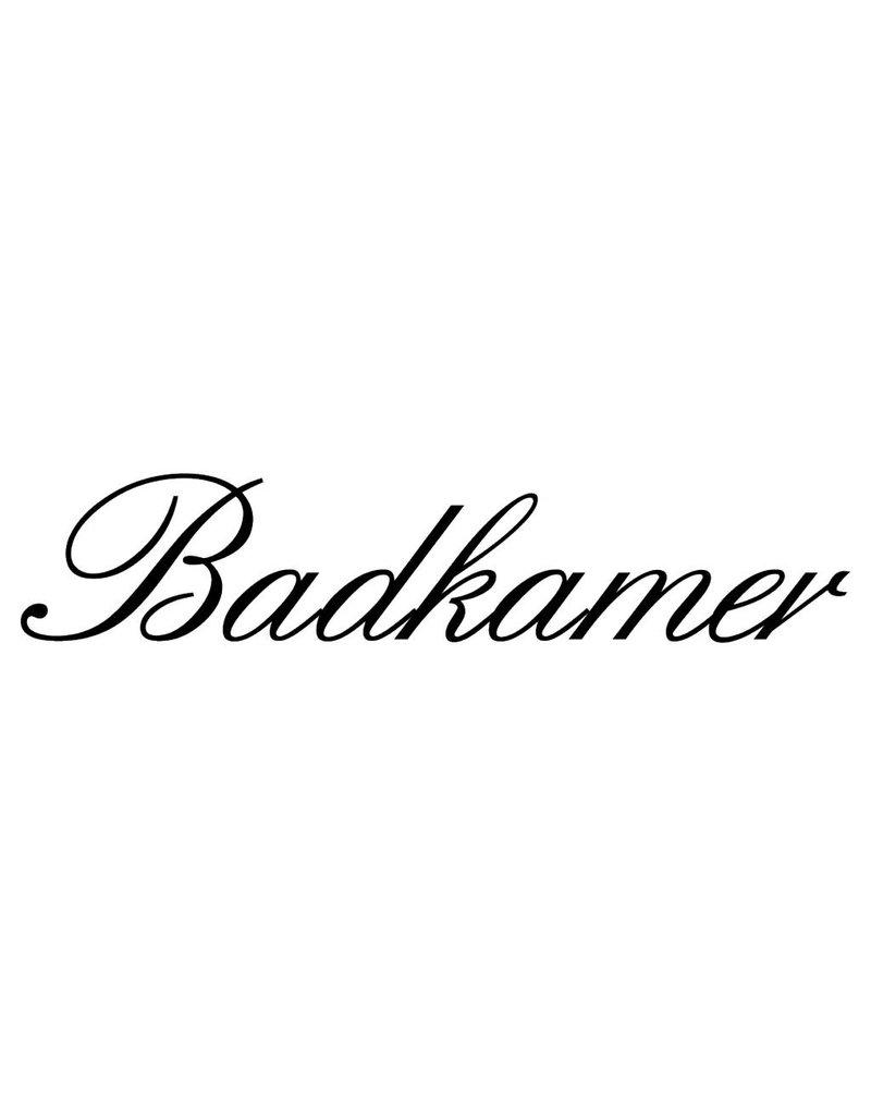 Texto holandés: ''Badkamer''