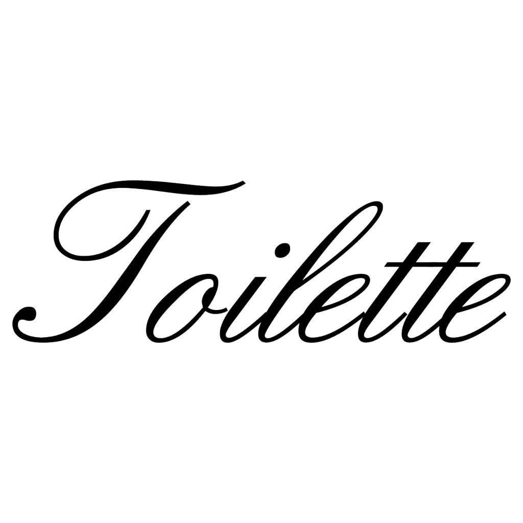 Französischer  Text: ''Toilette''