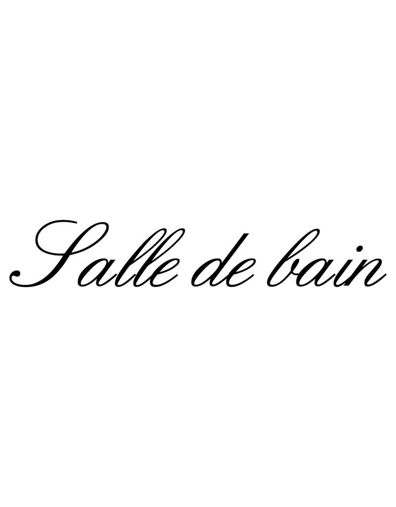 Texte français: ''Salle de bain'' lettres adhésives