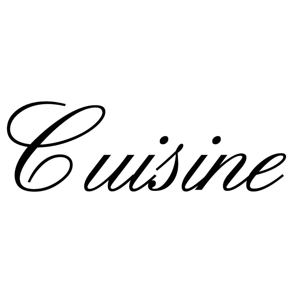 Texte français: ''Cuisine'' lettres adhésives