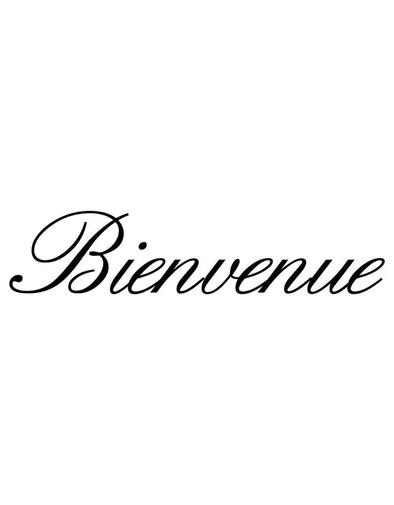 Texte français: ''Bienvenue'' lettres adhésives