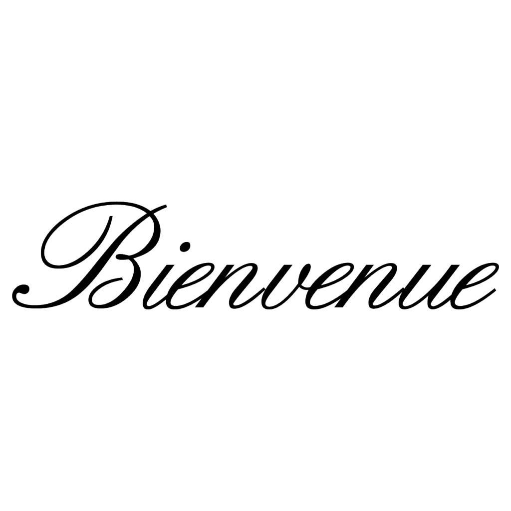 Texto en francés: ''Bienvenue''