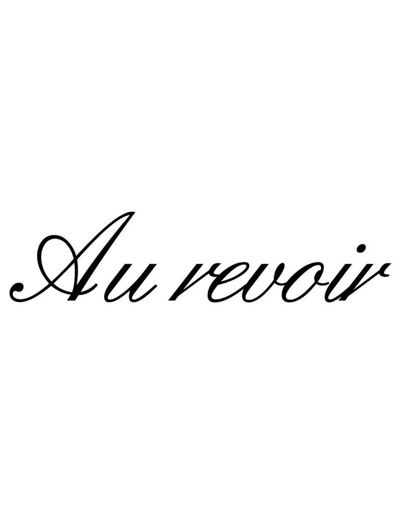 Franse teksten Au revoir Plakletters