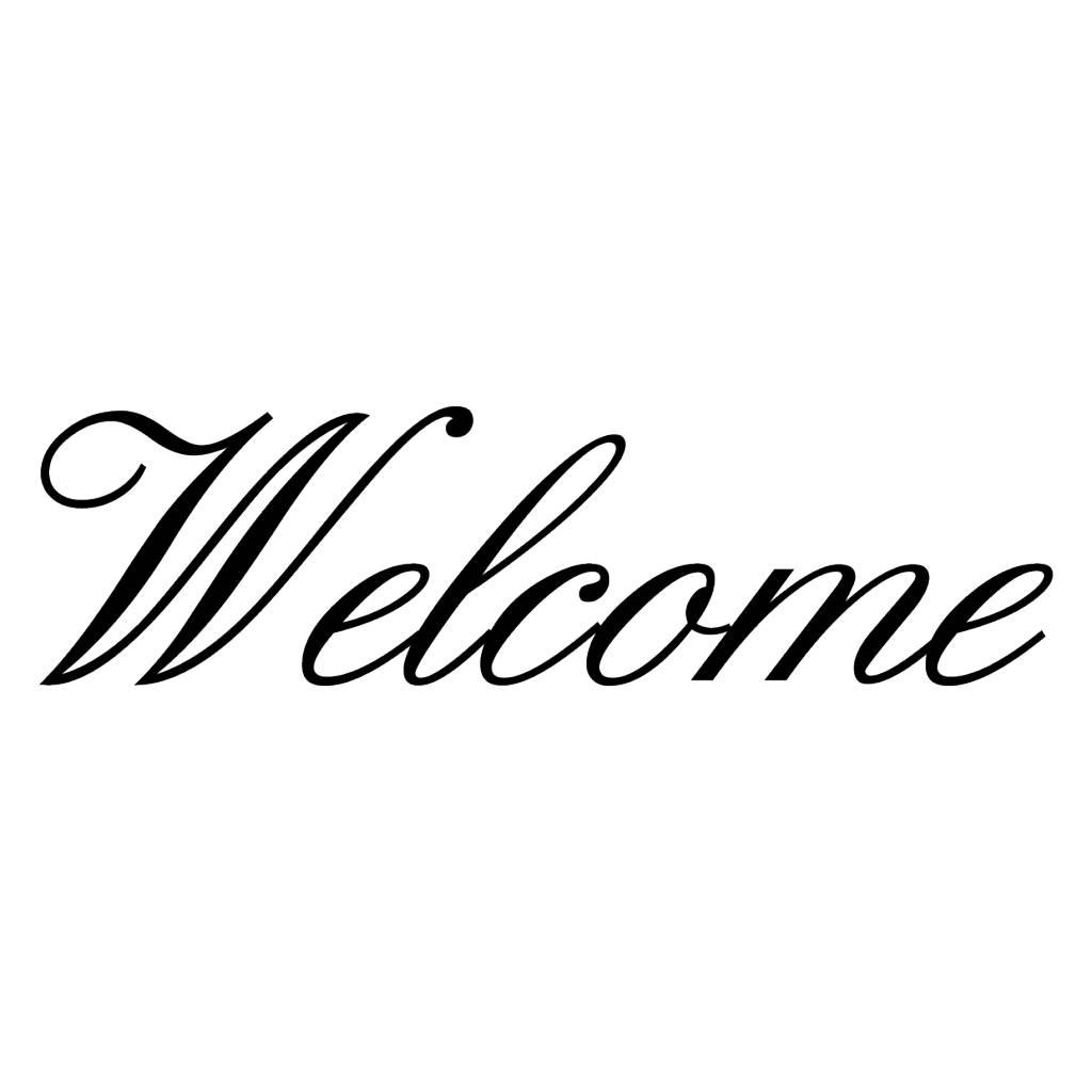 Welcome Klebebuchstaben