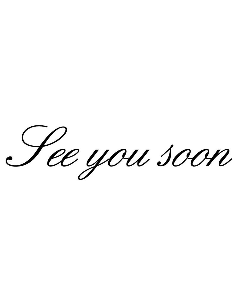 "Letras: ""See you soon"""