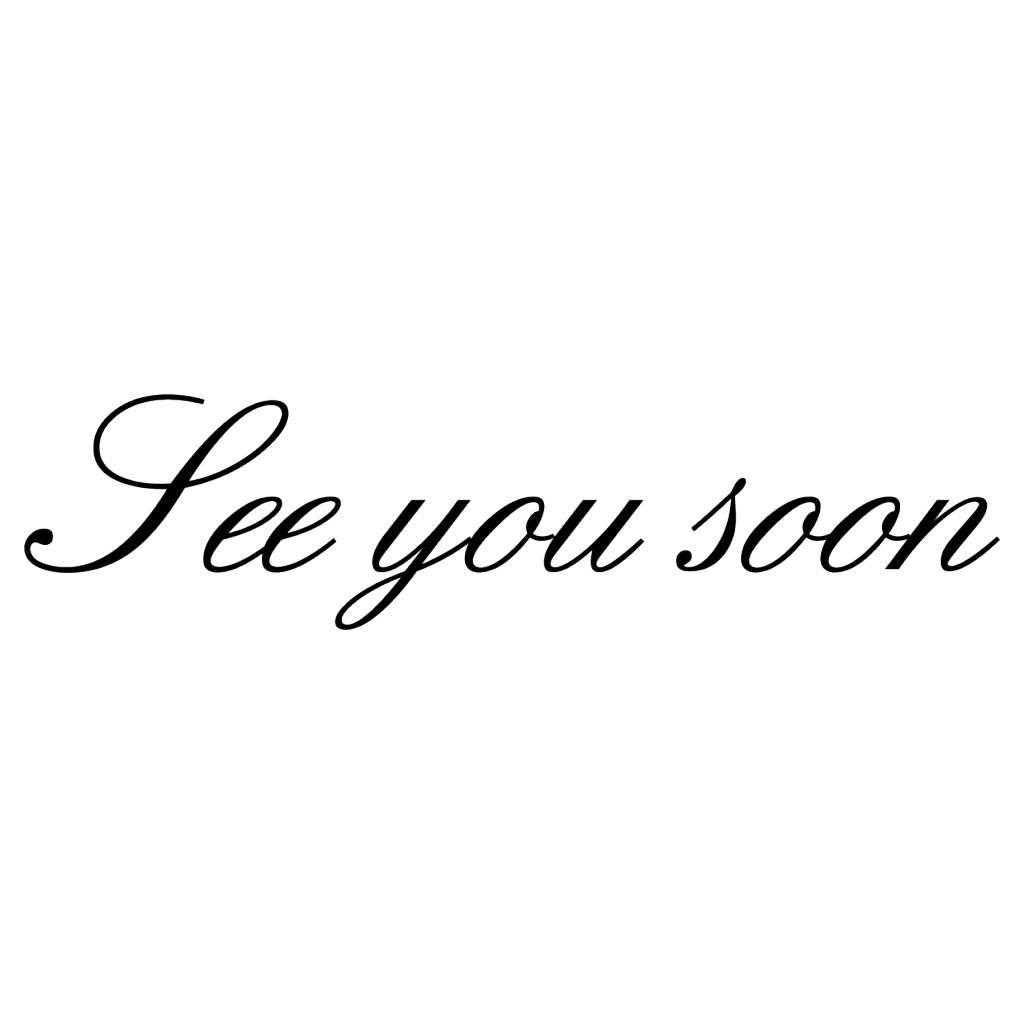 See you soon Klebebuchstaben