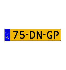 Dutch License Plate