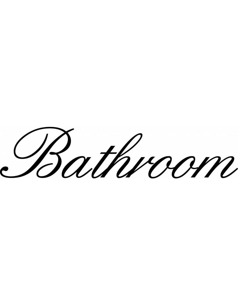 Bathroom Letter Stickers