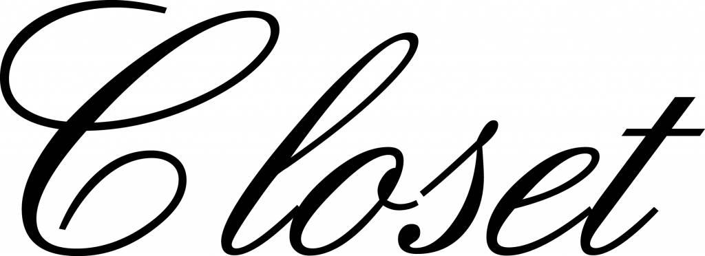 Closet Klebebuchstaben