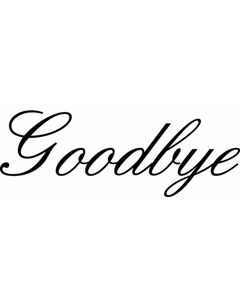 Goodbye Klebebuchstaben