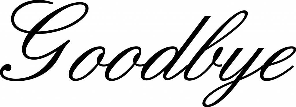 "Letras: ""Goodbye"""