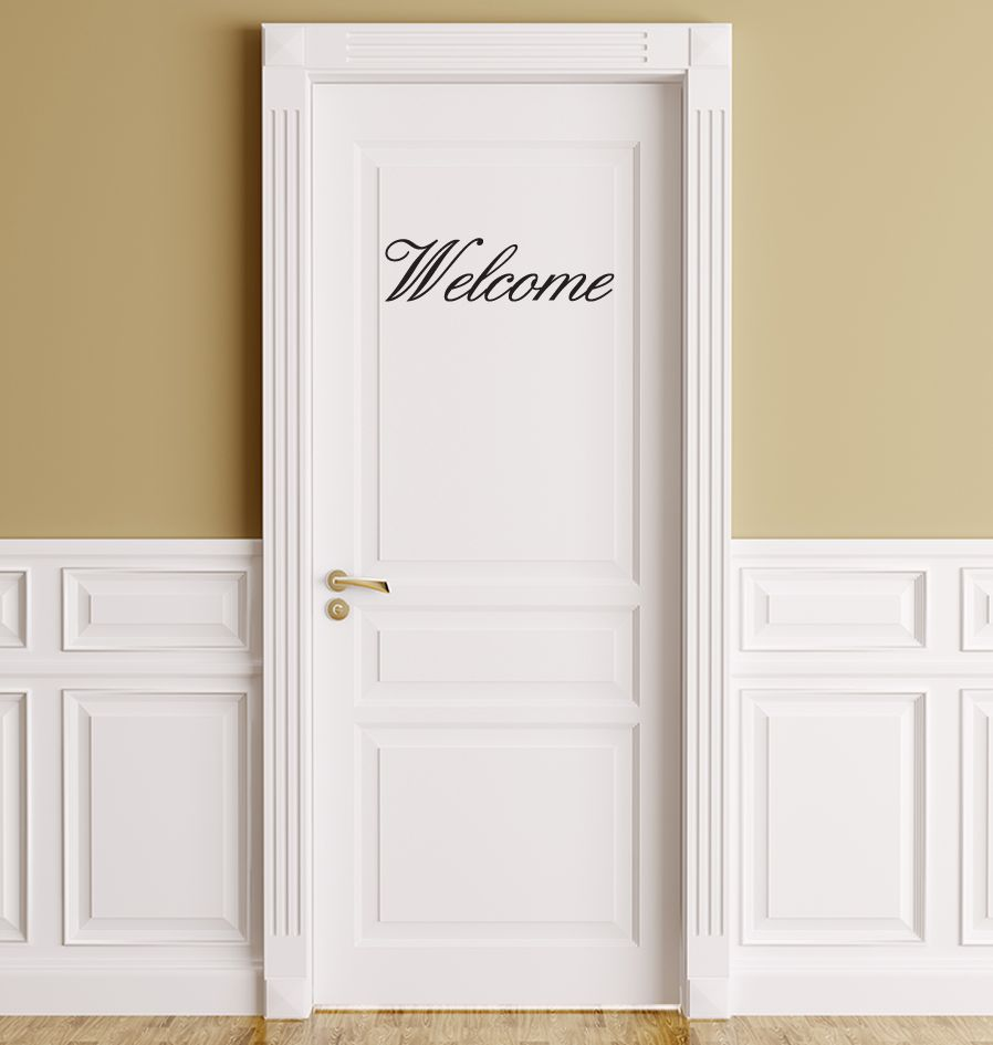 Welcome lettres adhésives