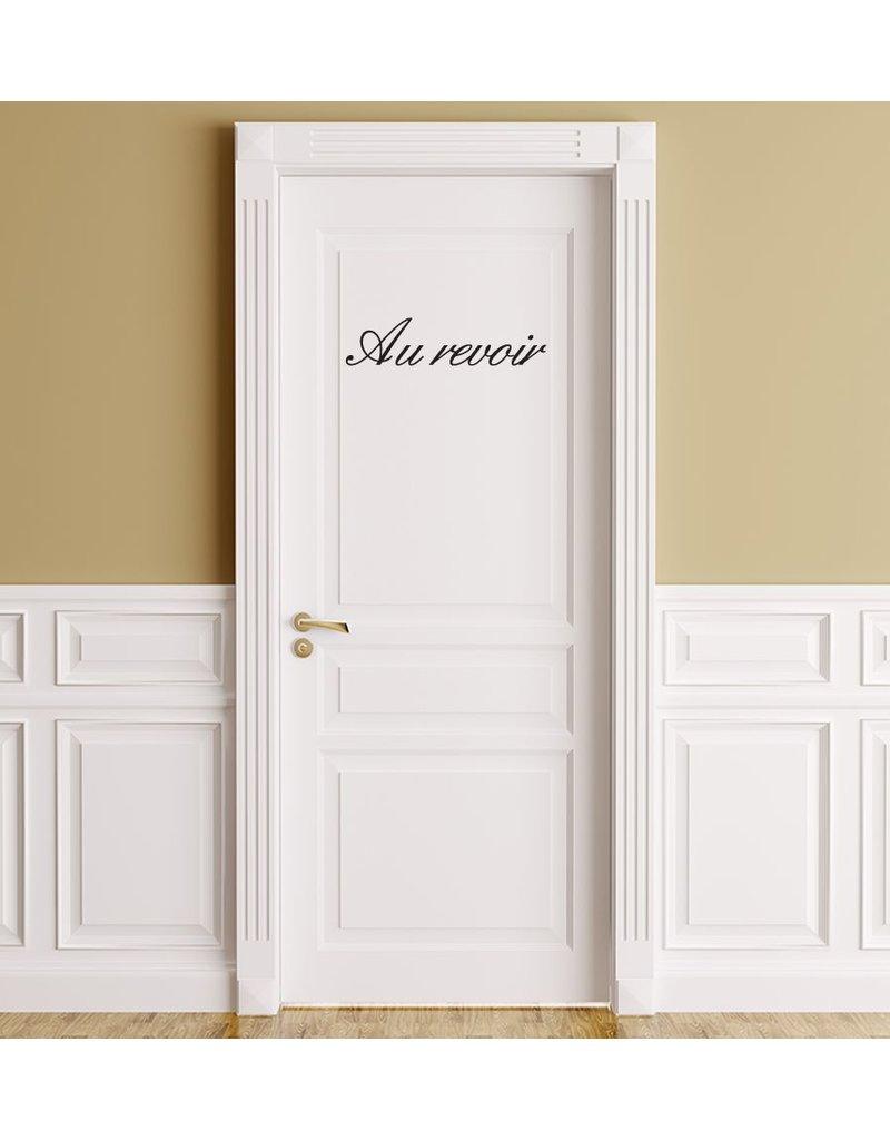 Texto en francés: ''Au revoir''
