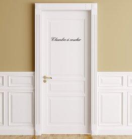 Texte français: ''Chambre'' lettres adhésives