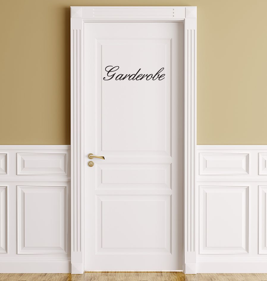 Französischer  Text: ''Garderobe''