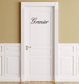 Texto en francés: ''Grenier''
