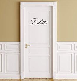 Texto en francés: ''Toilette''