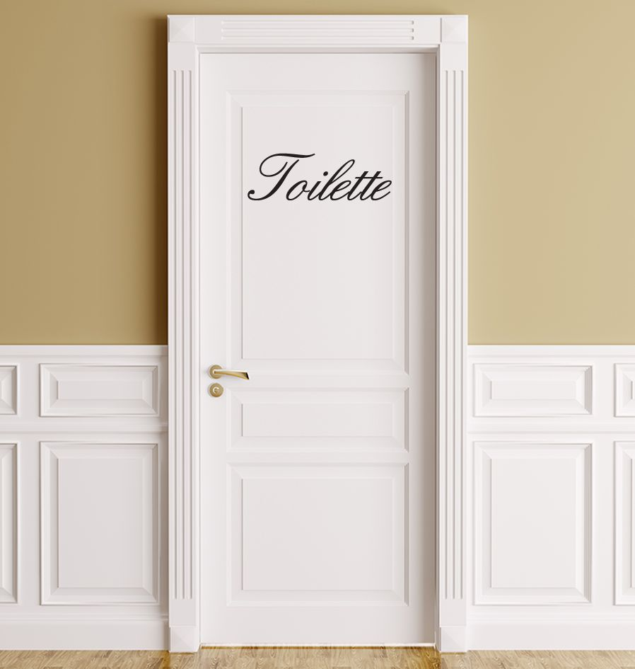 French text: ''Toilette''