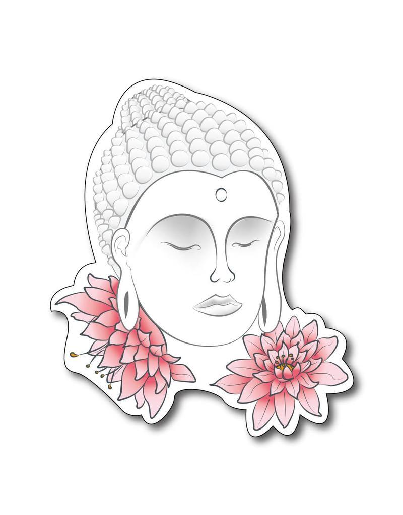 Buda con flores