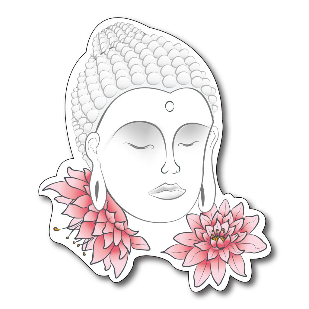 Boeddha met bloemen