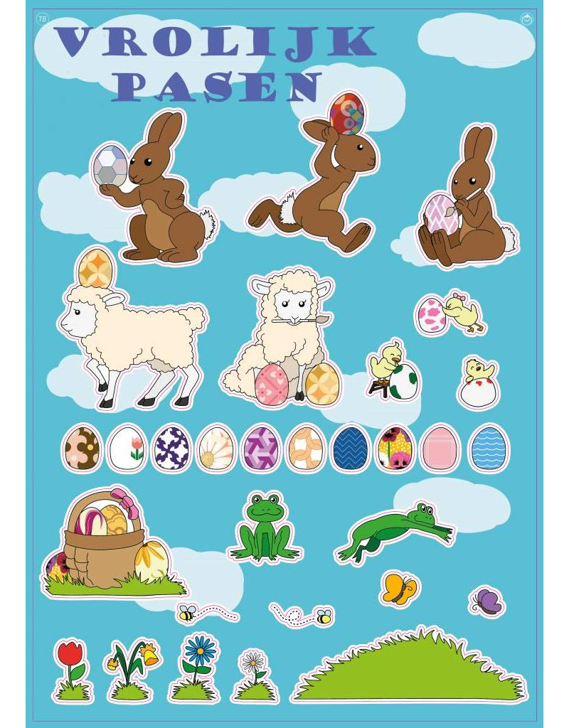Frohe Ostern Stickerbogen