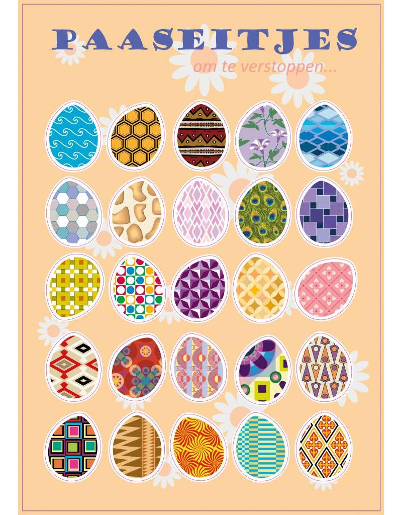 Easter eggs stickers
