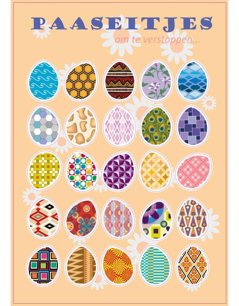 Farbige Ostereier Stickerbogen