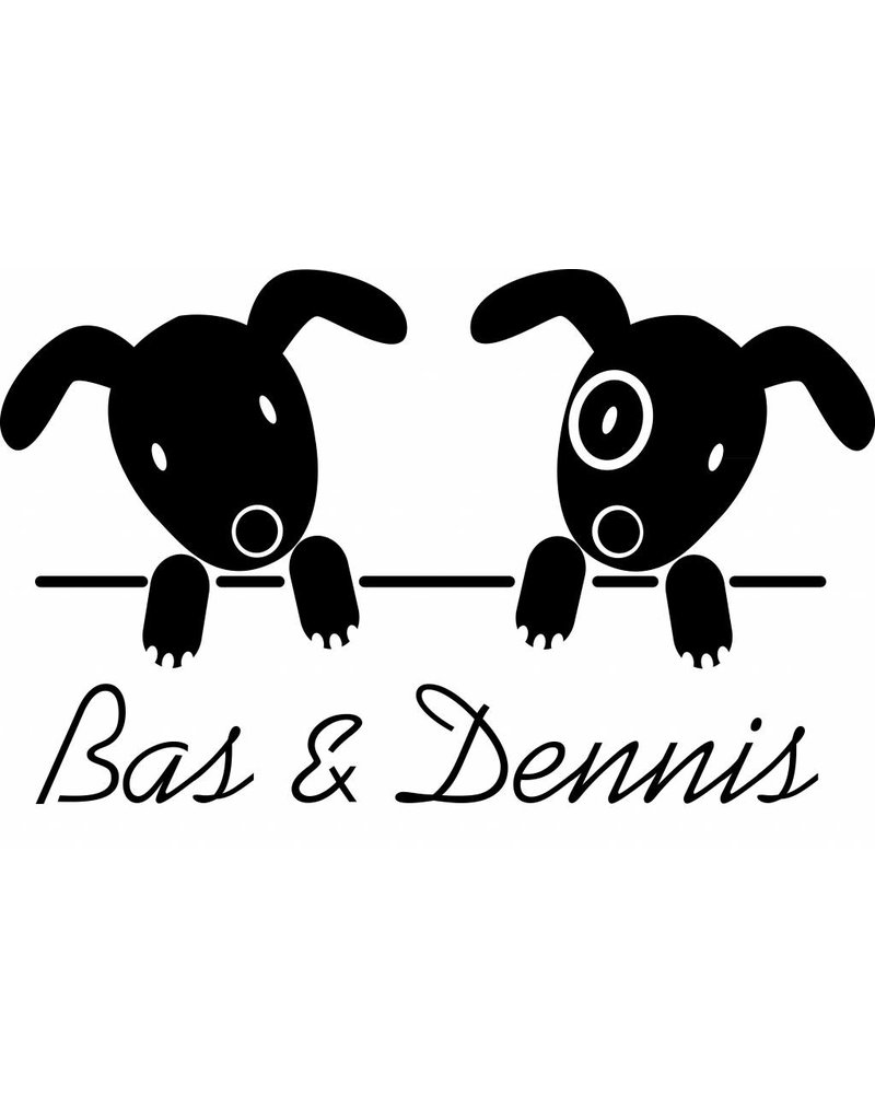 Geboorte raamsticker -Tweeling hondjes