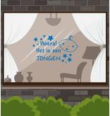 Birth -Hoera window sticker! It is a boy