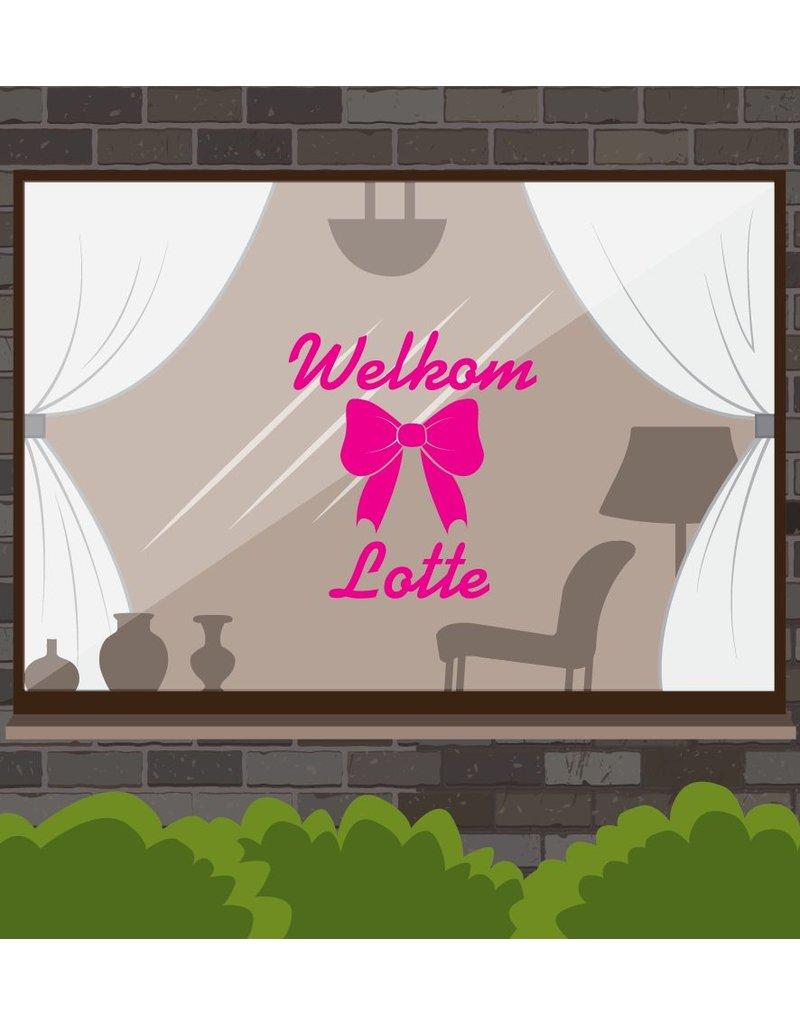 fenêtre Naissance autocollant arc -Welkomst