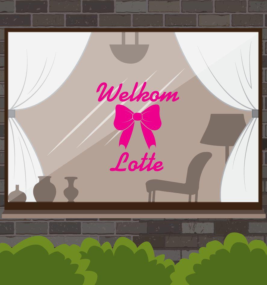 Birth window sticker -Welkomst bow