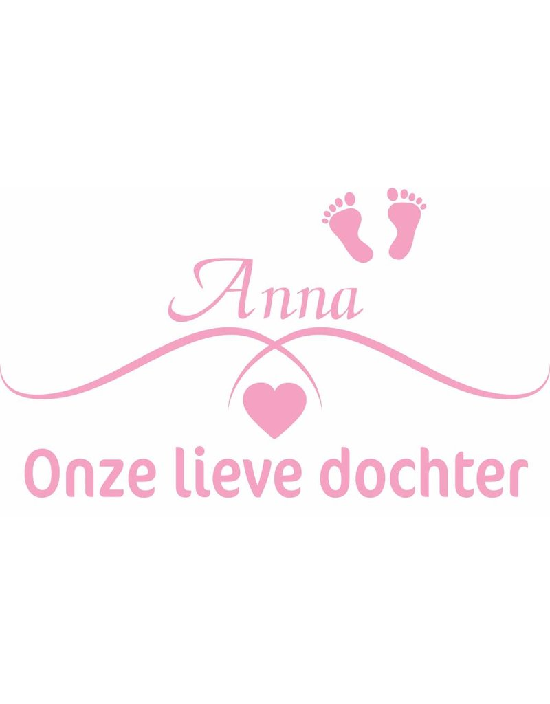 Birth Sticker -Our sweet daughter by name