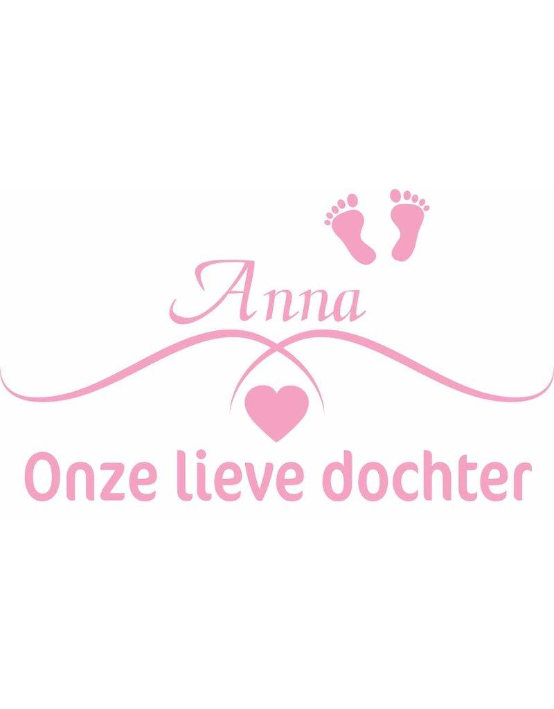 Geboortesticker -Onze lieve dochter met naam