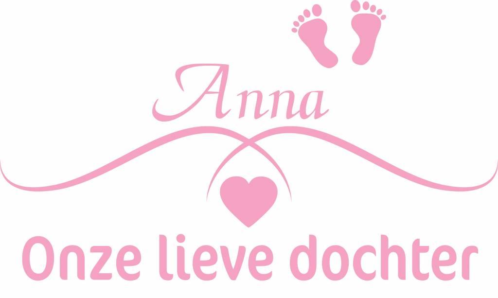 Geburt Aufkleber -Unsere süße Tochter mit Namen