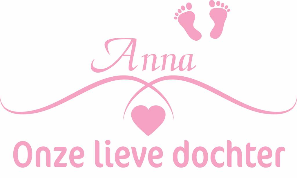 Nacimiento Etiqueta -Nuestra hija dulce por su nombre