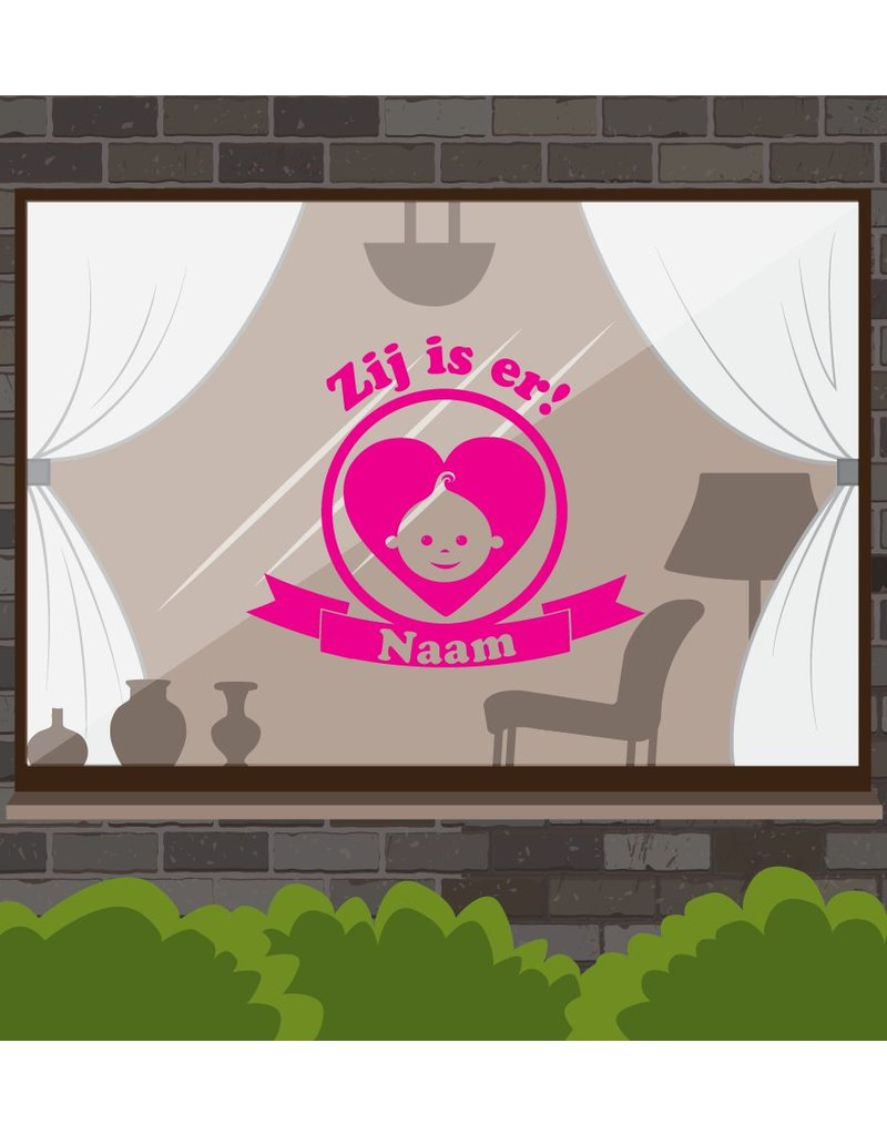 Birth window sticker - It's there!