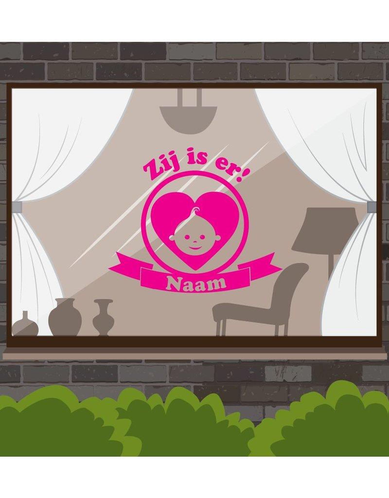 Nacimiento etiqueta de la ventana - Está ahí!