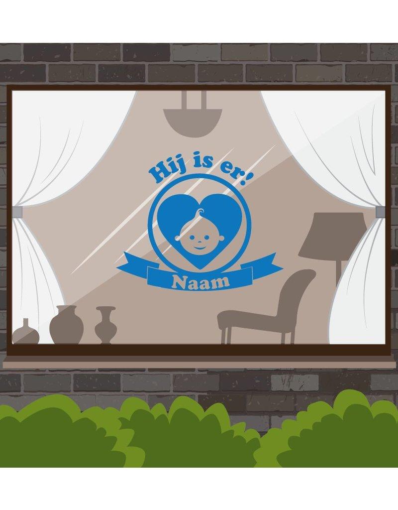 Nacimiento etiqueta de la ventana - ¡Ahí está!