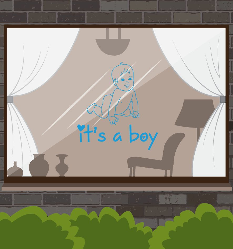 Geboortesticker - It's a boy