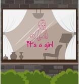 Geboortesticker - It's a girl