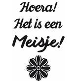 Hoera! It is a Girl! Sticker