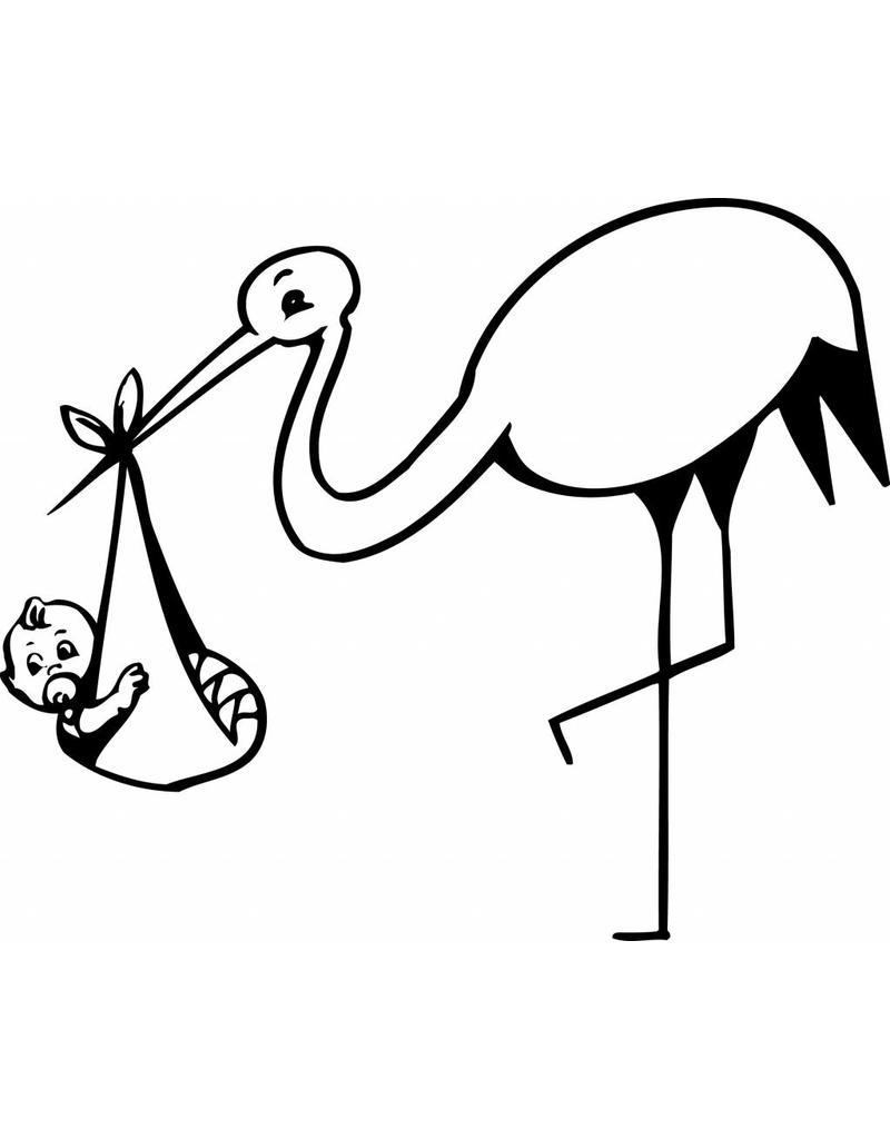Stork Pink Sticker
