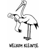 """Sticker: """"Welkom Kleine"""""""