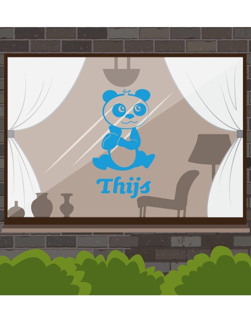Pandabär blauw Sticker