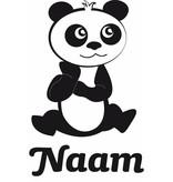 Geboortesticker - Pandabeertje met naam
