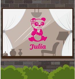 Panda pink Sticker