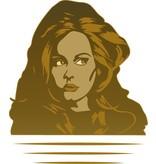 Etiqueta de la pared Adele