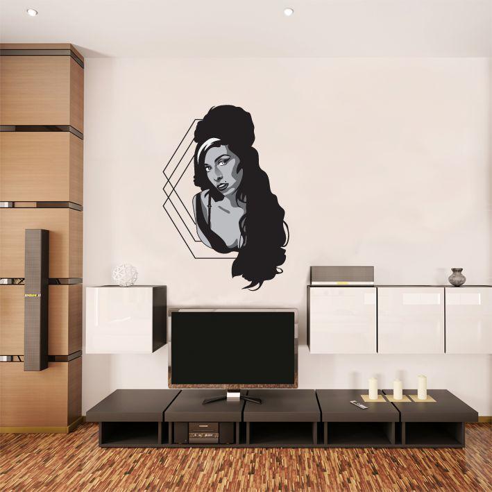 Etiqueta de la pared Amy Winehouse