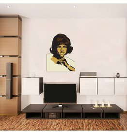 Muursticker Aretha Franklin