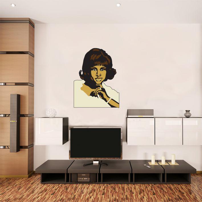 Wall Sticker Aretha Franklin
